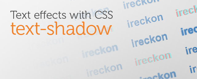 Text effects with CSS text-shadow