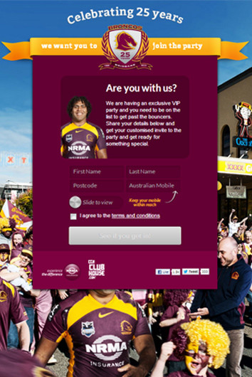 Integrated online campaign for memberships!