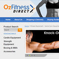 Ozfitness Direct ecommerce store using Magento